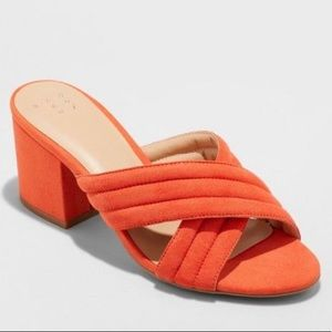 A NEW DAY Target Miriam Coral Orange Mule Sandals